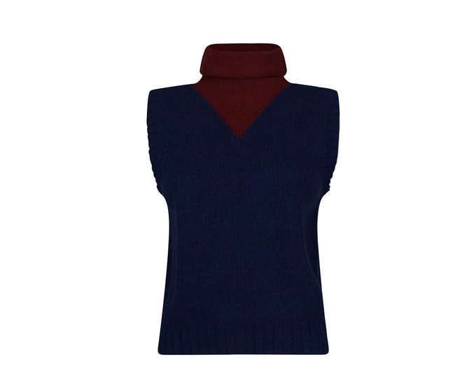 Kriza Vintage Turtle Neck Top - Vintage Knit Top by Kriza