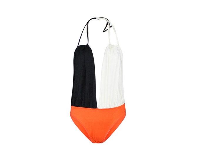 80s Vintage Fendi Swimsuit- 80s Vintage Beachwear MADE IN ITALY
