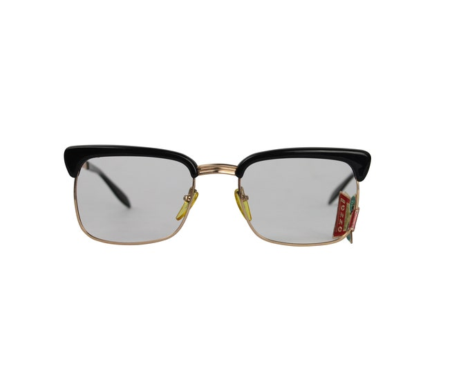 Black Browline Iconic Vintage Frame From 60s - Vintage Unisex Frame - Browline Frame
