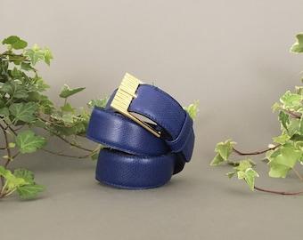 Vintage ETRO Leather Belt - Vintage Woman Belt