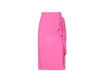 Vintage Longuette Draped Skirt - 80s Vintage Woman Skirt