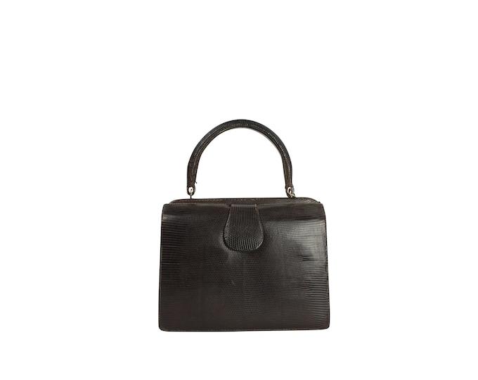 Vintage Lizard Woman's Bag - 60s Vintage Handbag