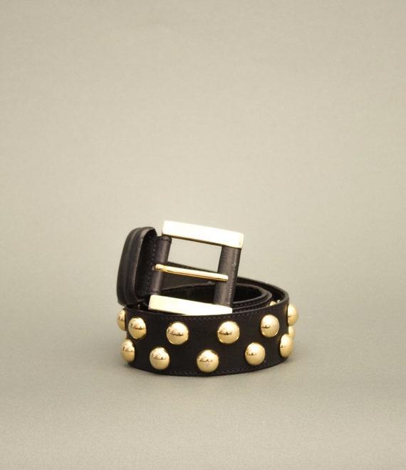 Vintage Golden Dots Belt