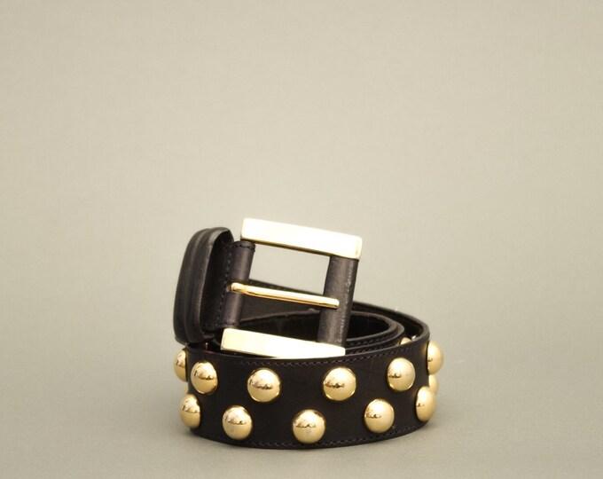90s Vintage Woman Belt - Vintage Golden Dots Belt