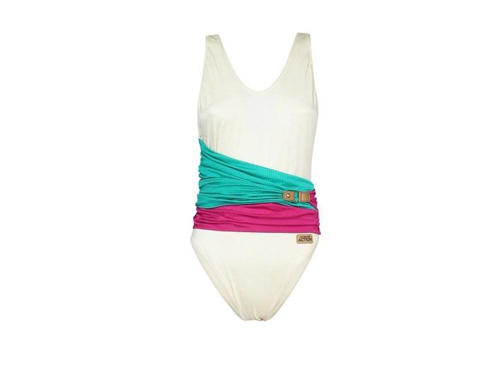 TRUSSARDI Vintage Woman's Swimsuit-  Trussardi 90s Vintage Beachwear - Womans  Vintage Bodysuit