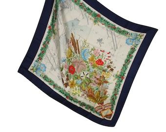 Gucci Vintage Silk Foulard - Gucci Woman Silk Scarf