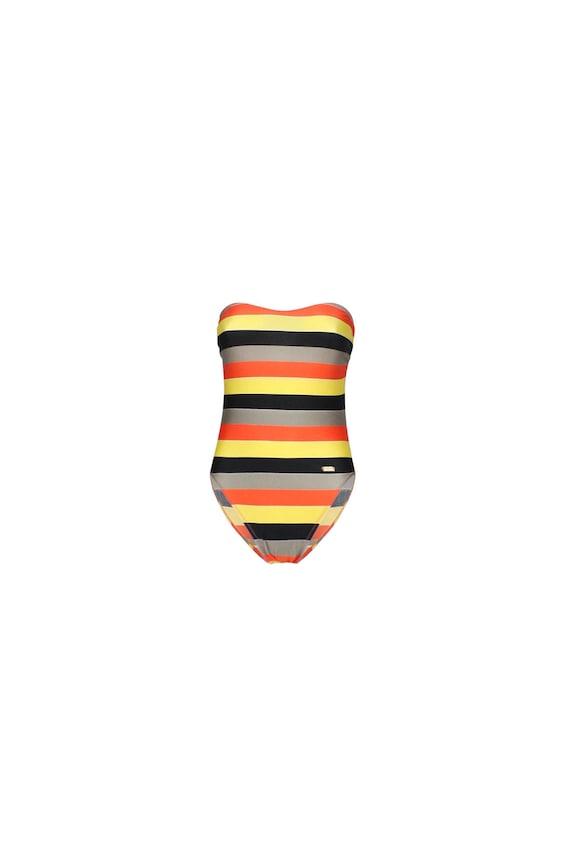 Pierre Cardin Vintage Woman's Swimsuit-  Striped V