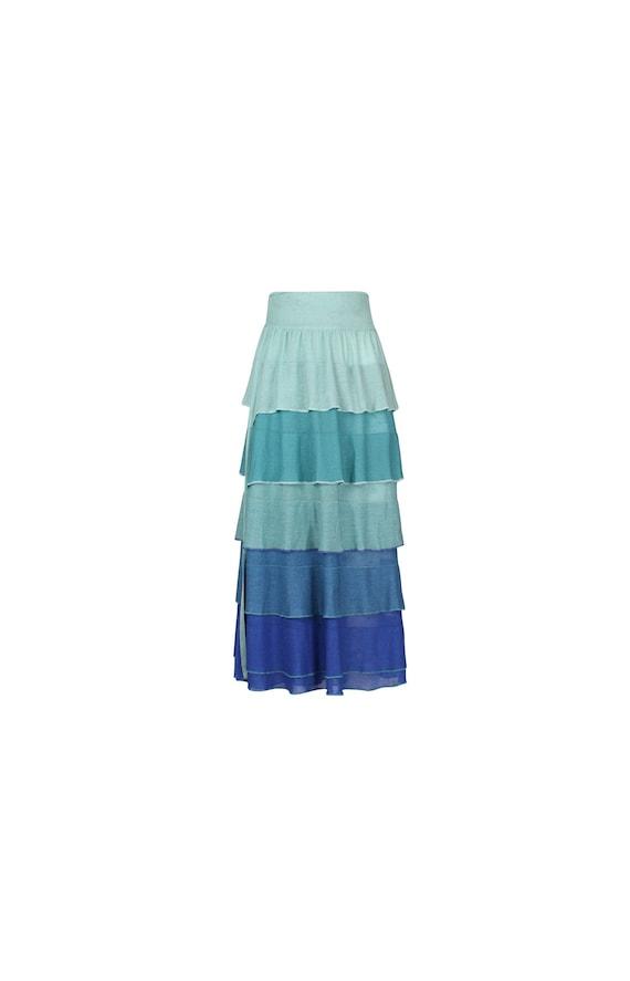 Vintage Draped Wraparound Skirt