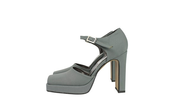Vintage Grey Shoes for Her - Lady Fashion Sandals Vintage - Vintage Lady's Shoes