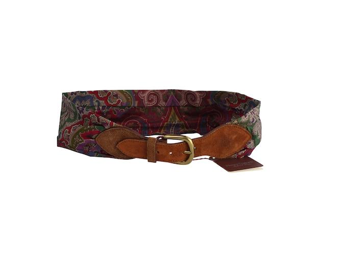 Henry Cotton's Vintage Woman Belt - Vintage 90s Paisley Belt