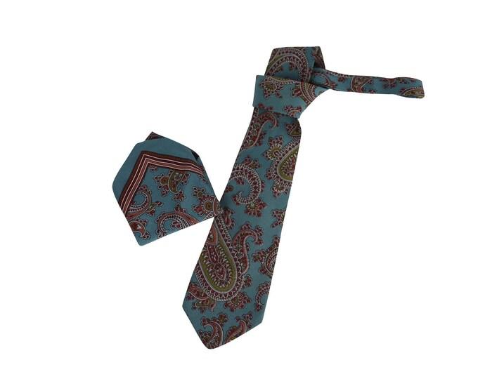 Yves Saint Laurent Vintage Silk Tie and Pocket Square - Yves Saint Laurent MAN Silk Paisley Suit