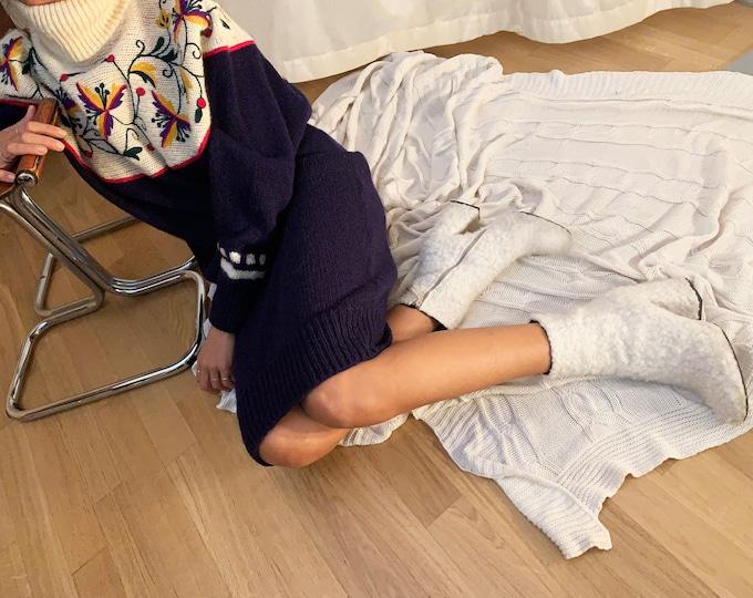 Vintage BYBLOS Tricot Dress - Vintage Knit Dress for Her -80s Vintage Woman Dress - 80's Vintage Wool Dress