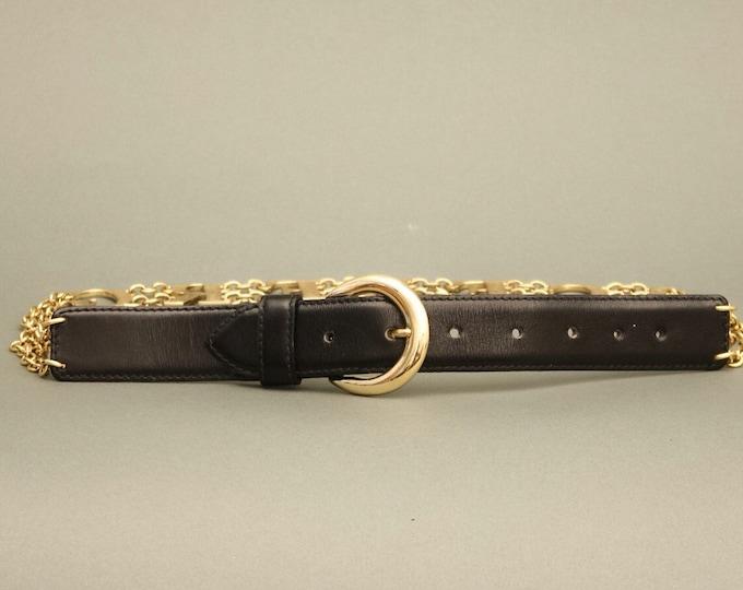 Vintage Iceberg Chain Leather Belt