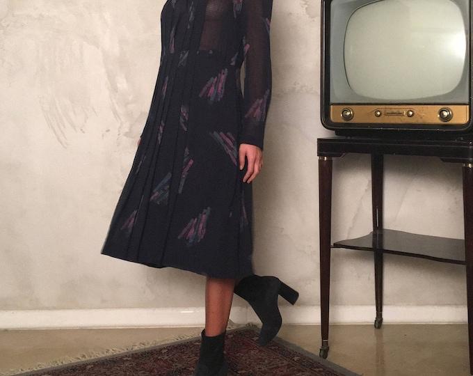Vintage Cotton Dress - Vintage Chemisier Dress