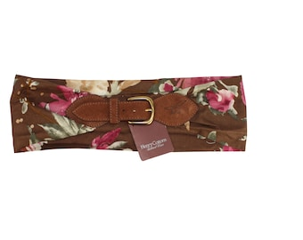 90s Vintage Flowers Belt by Henry Cotton's