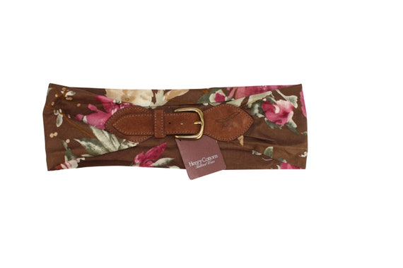 90s Vintage Flowers Belt by Henry Cottons