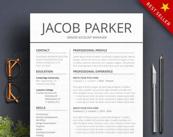Modern Resume Template / CV Template | Professional And Creative Resume |  Teacher Resume | Word Resume | Instant Download Two Column