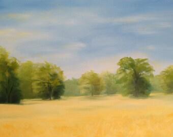 Canola Fields, 36x24 Original Oil Painting