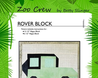 Rover Quilt Block / Digital Download / PDF Pattern