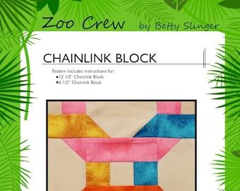 Chainlink Quilt Block / PDF Digital Download