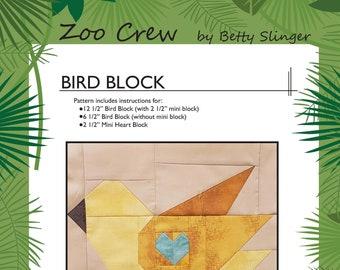 Bird Quilt Block / Digital Download / PDF Pattern
