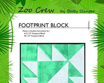 Footprint Quilt Block / Digital Download / PDF Pattern