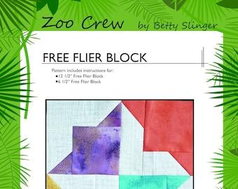 Free Flier Quilt Block / PDF Digital Download