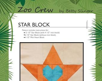 Star Quilt Block / Digital Download / PDF Pattern