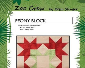 Peony Quilt Block / PDF Digital Download