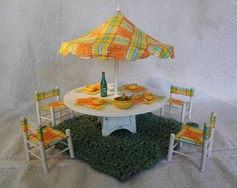 Figurines & Miniatures Able 1 Set Craft Umbrella Chairs Set Garden Ornament Miniature Fairy Garden Decor Diy Garden Decor Set Delicious In Taste