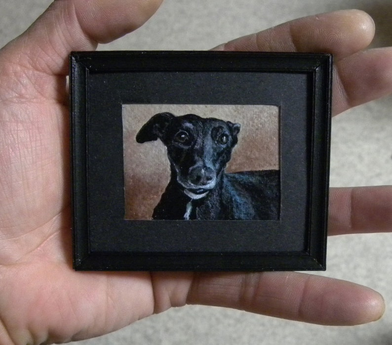 Miniature Painting Custom Pet Portrait-Cats-Dogs-Horses-Animals-Made-to-Order-from-your-Photo