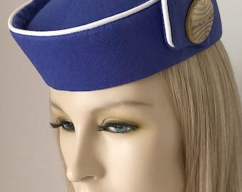 757c4abc452 Custom Made Reproduction PAN AM STEWARDESS Hat - Flight Attendant - Cosplay  - Costume