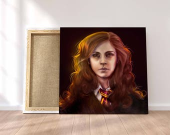 Hermione Granger Painting- Harry Potter - Stretched Canvas - Multiple Sizes