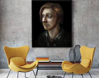 Remus Lupin Painting- Harry Potter - Stretched Canvas - Multiple sizes