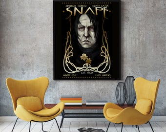 Severus Snape Portrait Painting Print 12x18in Archival Print LIMITED EDITION