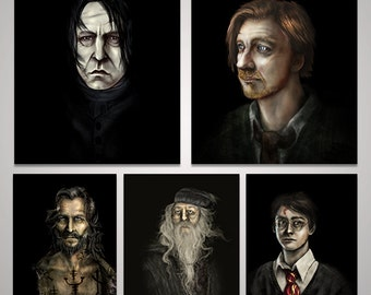 Lot of 5 - Harry Potter, Sirius, Lupin, Snape, Dumbledore