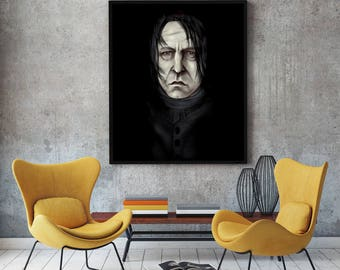 Severus Snape Painting- Harry Potter - Stretched Canvas - Multiple Sizes