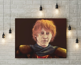 Ron Weasley Painting- Harry Potter - Fine Art Print - Multiple sizes