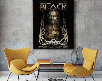 Sirius Black Portrait Painting Print 12x18 Archival Print LIMITED EDITION