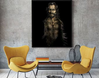 Sirius Black Painting- Harry Potter - Fine Art Canvas Print - Multiple Sizes from artist