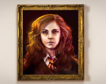 Hermione Granger Painting- Harry Potter - Fine Art Prints - Multiple sizes