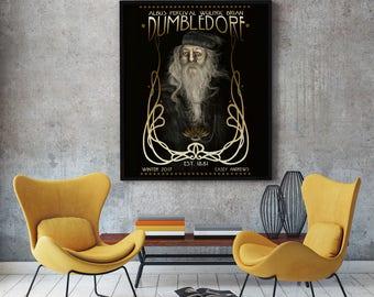 Dumbledore Portrait Painting Print 12x18 Archival Print LIMITED EDITION