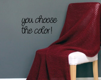 Personalized Solid Modern Afghan Throw Blanket Crochet- Burgundy - Made To Order