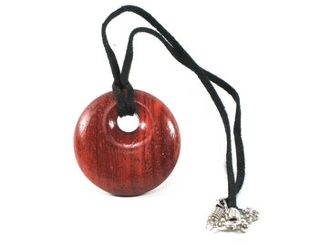Padauk Wood Pendant Necklace