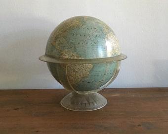 mid century lucite plastic globe