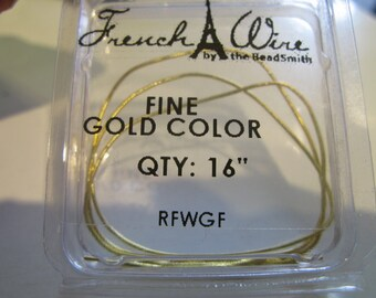Gold French Wire Bouillon Fine 1.0m Wire Protection for Strung Jewelry 3.28ft
