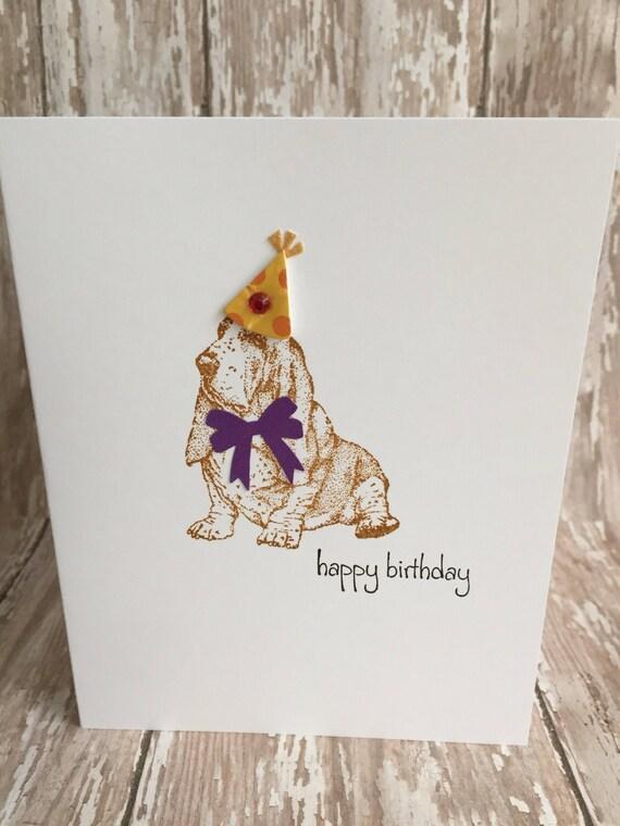 Basset Hound Birthday Carddog Cardhave A Paw Fect Birthdaybasset