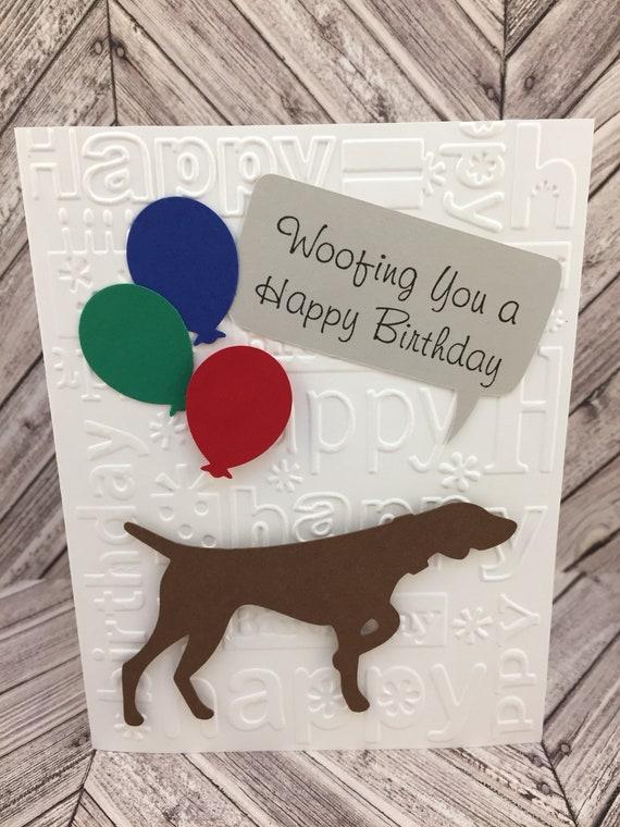 german shorthaired pointer pointer birthday card dog etsy