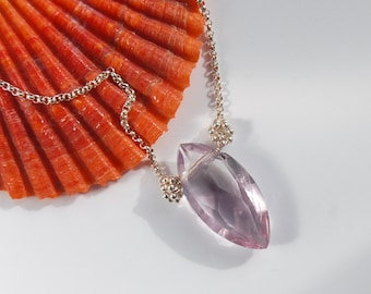Amethyst Necklace . February Birthstone