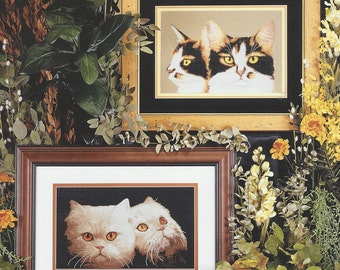 """Clearance- """"Naturally Cats II"""" Counted Cross Stitch by Cross My Heart"""